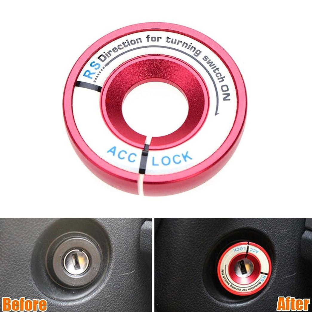 権限相互接続Jicorzo - Luminous Ignition Switch Key Hole Ring Cover Trim Car Styling Sticker Fit for Golf Jetta MK6 Bora Tiguan Passat 3 Color [Red]