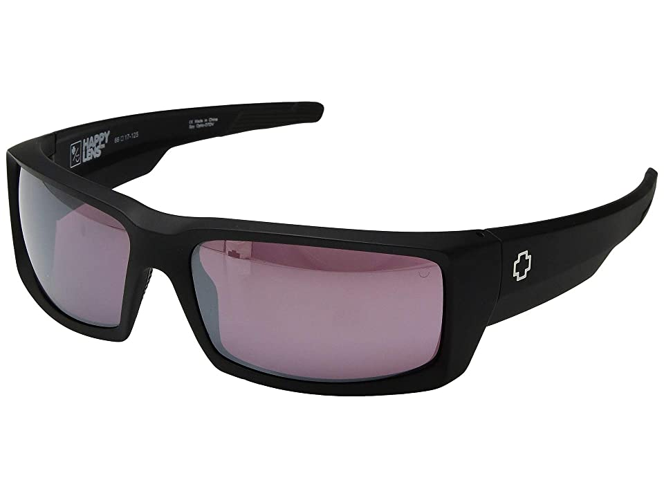 Spy Optic General (Matte Black/Happy Rose/Silver Spectra Mirror) Sport Sunglasses