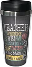 Tree-Free Greetings Jo Moulton Awesome Teacher Travel Mug, Stainless Lined Coffee Tumbler, 16-Ounce - Gift for Teacher App...