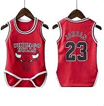 Bull Lakers Rocket Warrior Baby Fit Traje de Baloncesto siamés Traje de Salto siamés NBA Baloncesto Ropa Deportiva