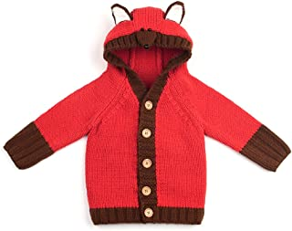 dd25efb6e Baby Girl Jacket Knit Cardigan Hooded Coat Toddler Boy Sweater Button Up  Outwear