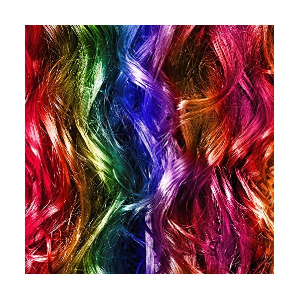 24 Pieces 24 Colors Multi-Colors Clip on in Hair Extensions Hair Pieces Colored Party Highlights DIY Hair Accessories Extensions 20 Inches Long Hair for Girls Women (24 Colors, Curly Wave) 4