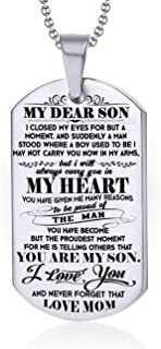 FAMILY GIFTS SHOP to My Son Never Forget That I Love You. Mother to Son Gift. Son Jewelry