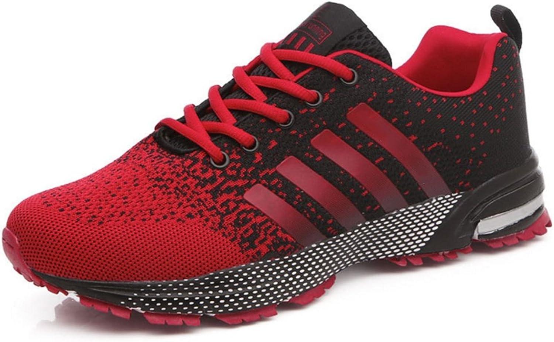RENMEN Marathon Laufschuhe Sport Herrenschuhe Luftpolster Schuhe Schuhe Schuhe atmungsaktive Sportschuhe 39-46, rot 7712b6