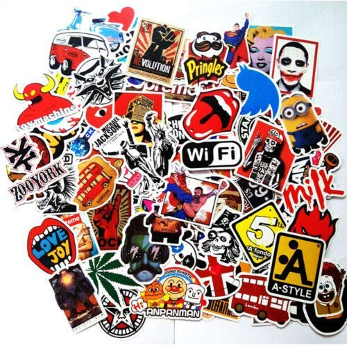 WYJW 50 stks Mix Veel Stickers Skateboard Stickers Graffiti Laptop Auto Stickers Auto Stickers
