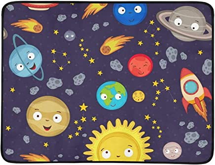 EIJODNL Cute Cute Cute Solar System Portable and Foldable Blanket Mat 60x78 Inch Handy Mat for Camping Picnic Beach Indoor Outdoor Travel B07MYRPXTH | New Products  eabc75