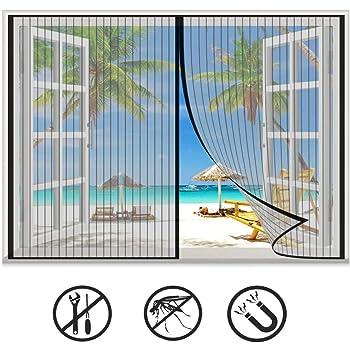 Fixe L 40//56 - H 45//61 Moustiquaire ajustable en fibre de verre TRANQUILISAFE/® pour fen/êtres moustiquaire de fen/être