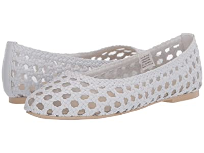 Janie and Jack Woven Flat (Toddler/Little Kid/Big Kid) (White) Girl