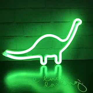 Nordstylee Neon Dinosaur Light Signs,Led Dinosaur Night Lights Decor Lights for Kid's Gift, Wall, Birthday Party, Christma...