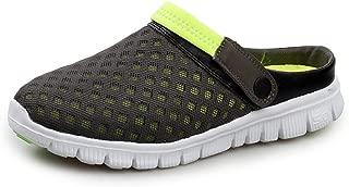 LFSP Classic Popular Sandals Beach Shoes Women and Men's Mules Flat Heel Slip On Outdoor Trend Beach Sandals gg (Color : Gray Green, Size : 6 UK)