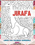 Libros para colorear Zendoodle - Cuadro grande - Animal - Jirafa