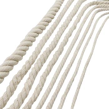Gorgebuy Decoraciones hechas a mano Cuerda de algodón natural que hace punto trenzado de hilo decorativo Cordón de equipaje Cuerda atada: Amazon.es: Hogar