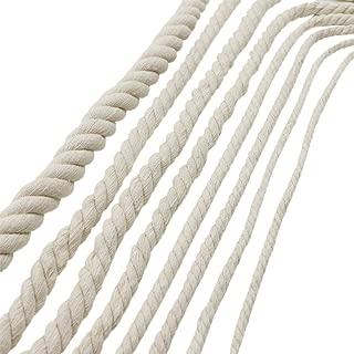 Gorgebuy Decoraciones hechas a mano Cuerda de algodón natural que hace punto trenzado de hilo decorativo Cordón de equipaje Cuerda atada