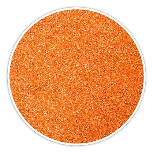 DecoLite Farbsand/Dekosand (1 kg) Farbiger Sand zum Dekorieren und Basteln (Orange)