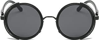 Small Round Polarized Sunglasses Mirrored Lens Unisex Glasses 2019