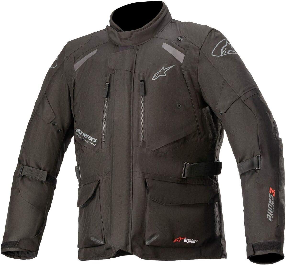 Navy Blue//Black Sz L Alpinestars Andes V3 Drystar Textile Jacket