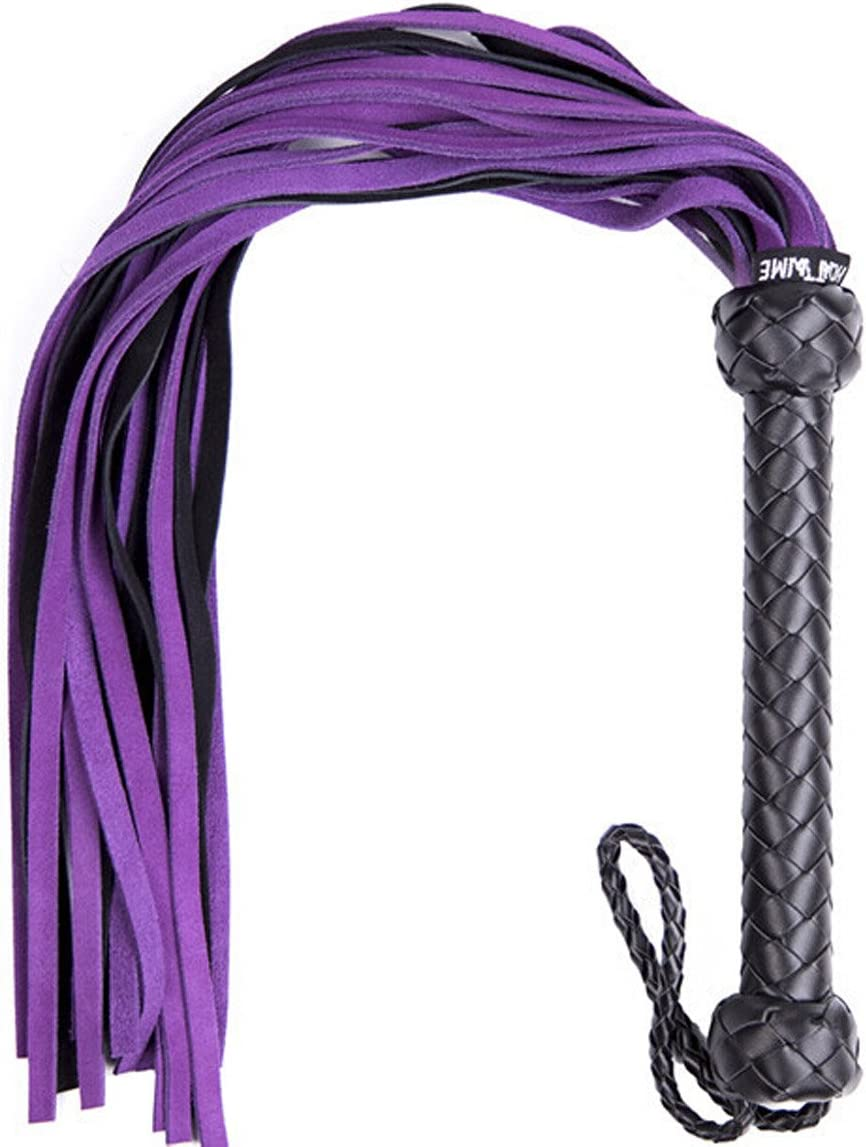 Genuine Suede Leather Industry No. 1 Floggers and Flo Handle Whips supreme Braided with