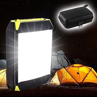 EPHRAM「2019年最新」 LEDランタン キャンプライト LED投光器 6000mAhモバイルバッテリー 30ヶled電球 明らかさ3段調整 2種類SOSモード 7-8時間充電 最大約70-80時間連続照明 USB充電式 IP65 防水防塵 軽量 懐中電灯 強力LEDライト 停電対策 防災対策 災害時備えにもアウトドア ハイキング 登山 夜釣り 電球色