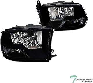 Topline Autopart Dual Headlamp Style Black Clear Housing...