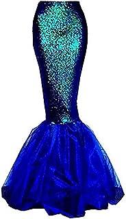 Women Halloween Costume Cosplay Mermaid Fancy Dress Skirt