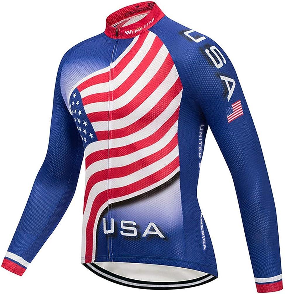Men's Cycling Jersey Long Omaha Mall Sleeve Men Bike Tops Shirt Bi Bargain sale Mountain