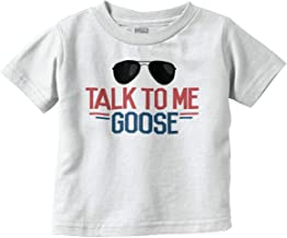 Talk to Me Goose Funny Movie Newborn Baby Infant Toddler T Shirt White