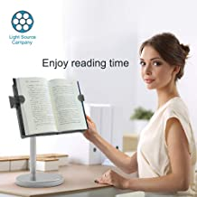 LS Hands Free Book Stand Flexible Folding Document Holder Adjustable Reading Height and Angle for Hard Covers, Paperbacks, CookBooks, TextBooks, Magazines (Height Black Book)