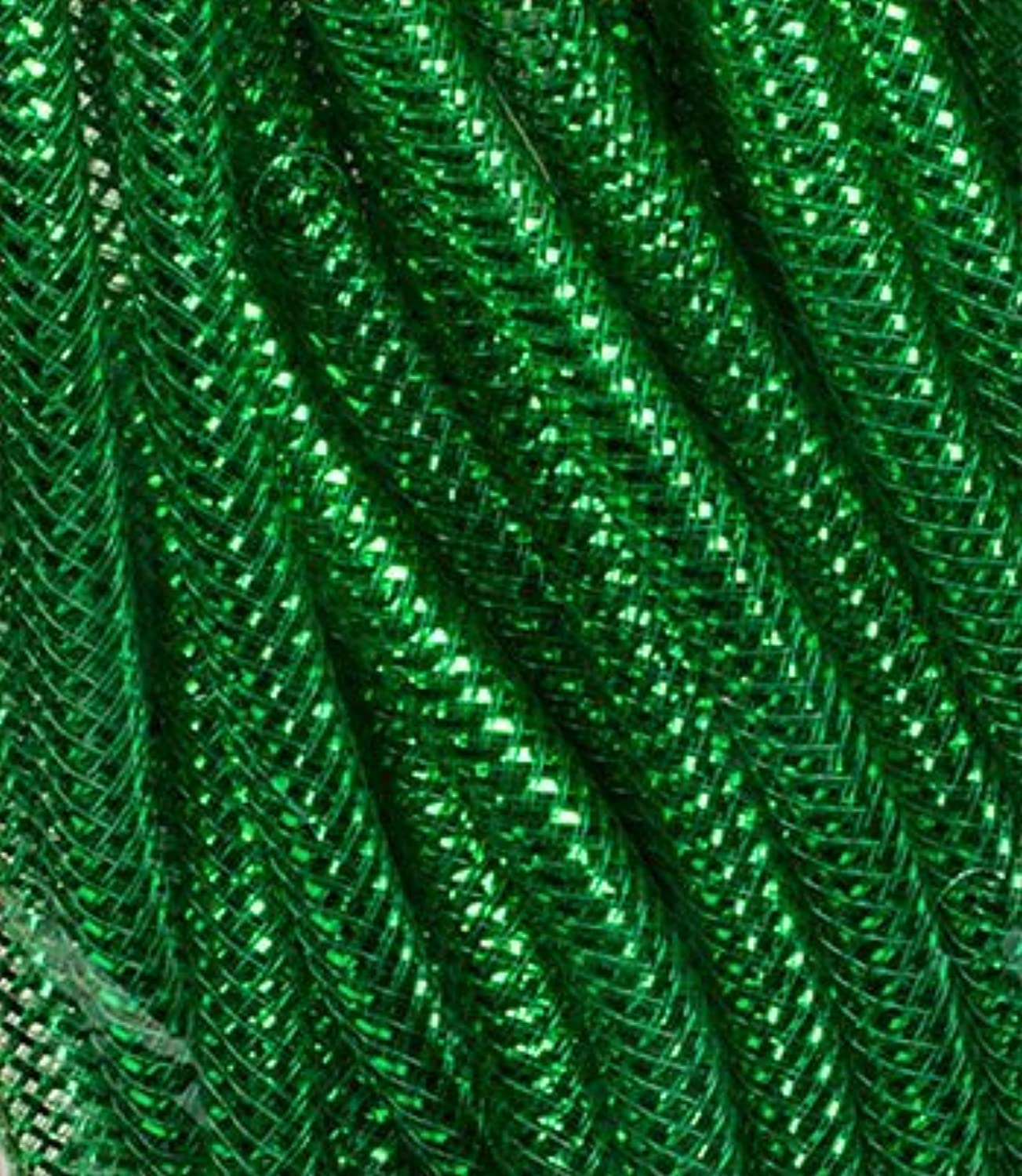 Decoration Crafter's Square Christmas Decorative Mesh Tubes, 12yd. Lengths. Holiday Wreath GREEN
