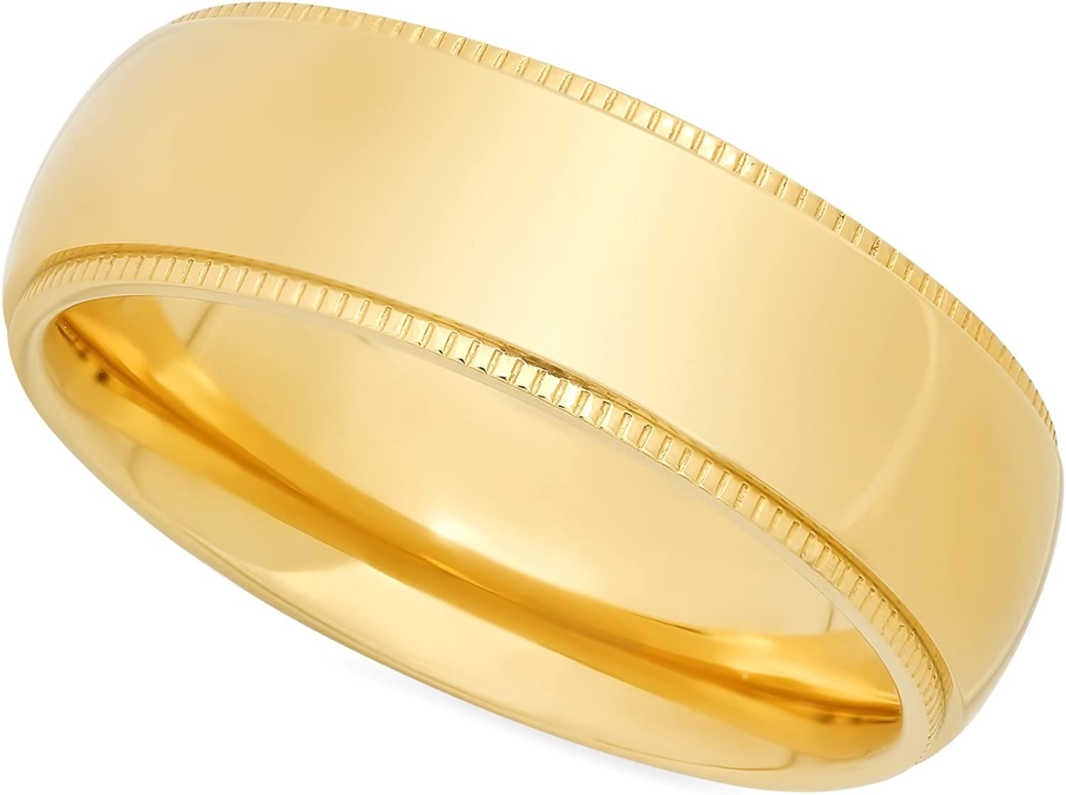 The Industry No. 1 Bling Factory Gold Plated latest Titanium Fit R 8mm Comfort Wedding