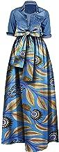 Huiyuzhi Womens African Print Dashiki Dress Long Maxi A Line Skirt Ball Gown