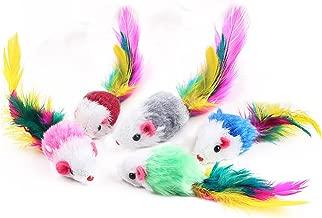 5 Pack coloré drôle souris petite souris queue chat Pet jouet