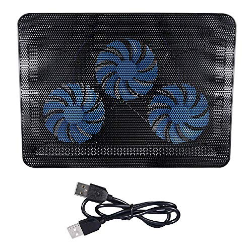 Kqiang Adjustable Portable Best Game Laptop Fan Cooling Pad Notebook Fan Cooler Stand with Light