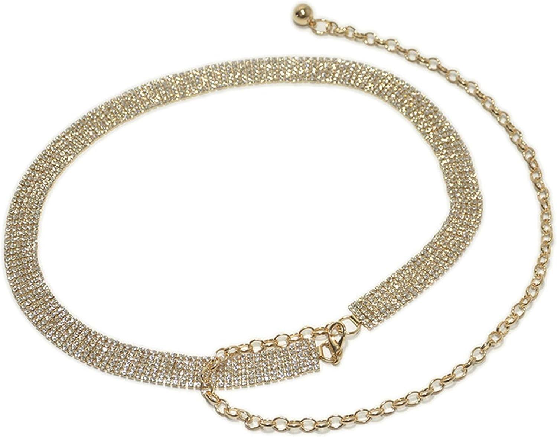 Shiny Rhinestone Belt Ladies Crystal Waist Belt for Ladies Exquisite Jeans Dress Jewelry Gift