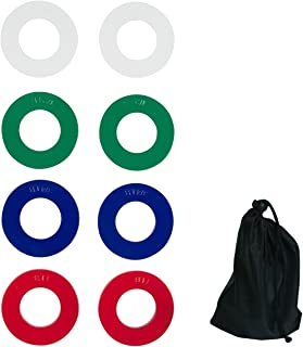Trademark Innovations Fractional Weight Plates - 2 Each of 1/4,  1/2,  3/4,  1 lb. Total Set of 8 (Carrybag Included)