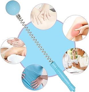 Zinnor Portable Massager Hammer Stick Manual Beat Golf Ball Massager Back Shoulder Massage Full Body Reduce Fatigue Pain Toys (Blue)