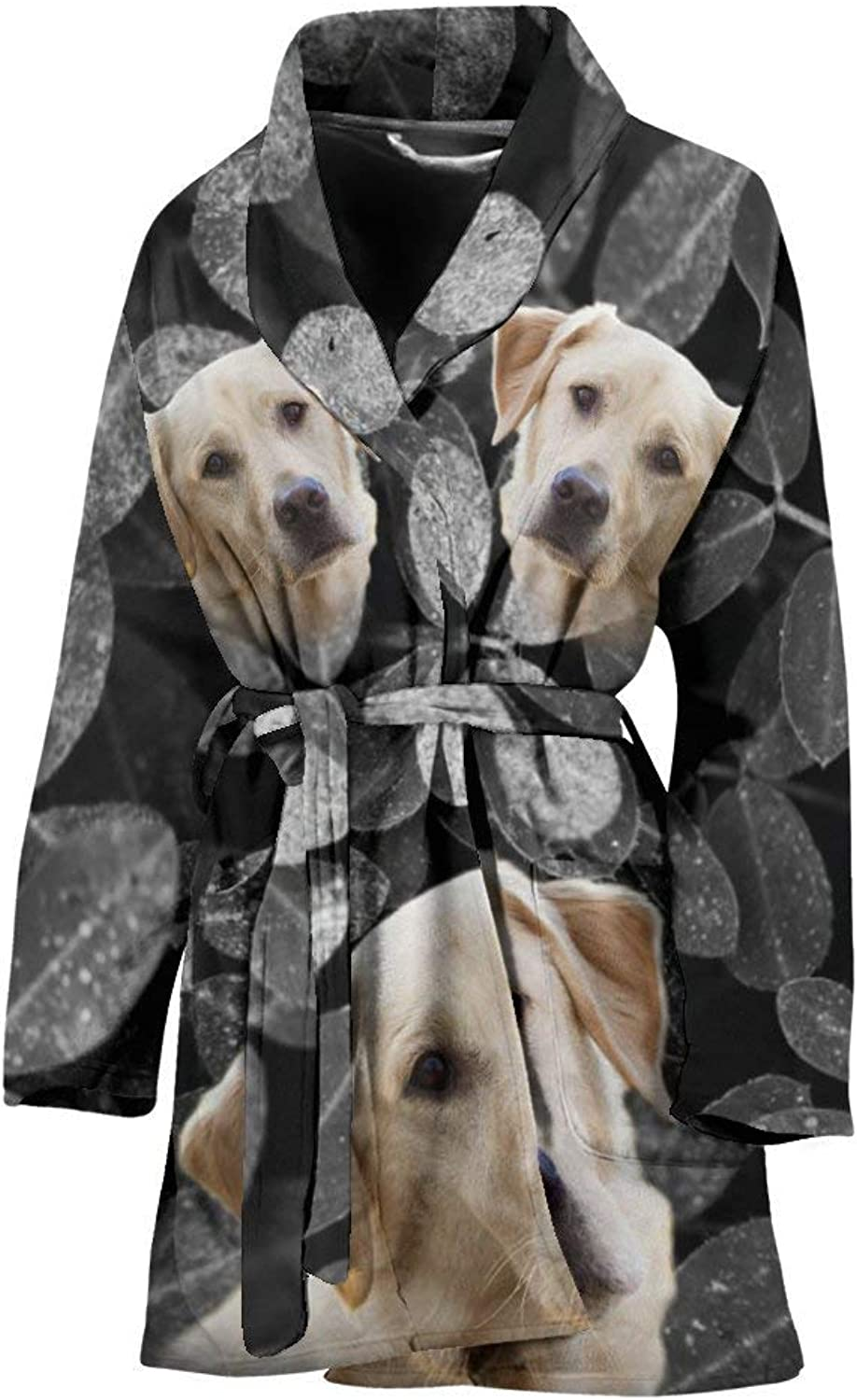 Deruj Cute Labrador Retriever Print Women's Bath Robe