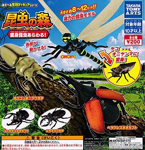 昆虫の森 変身昆虫あらわる! [全5種セット(フルコンプ)] ガチャガチャ カプセルトイ