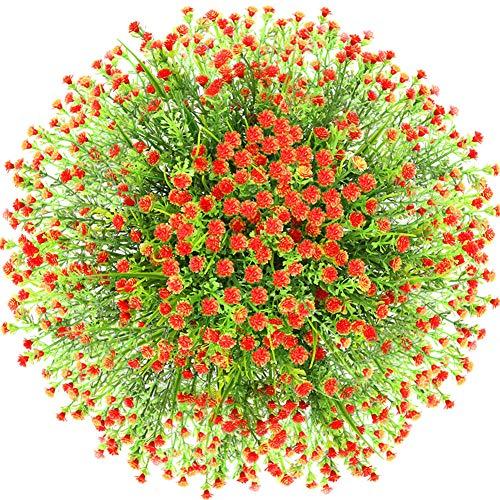 HINTER Lot de 10 Fleurs de Coquelicots en Latex artificielles en Soie au Toucher r/éaliste pour Bouquet de mari/ée ou de f/ête