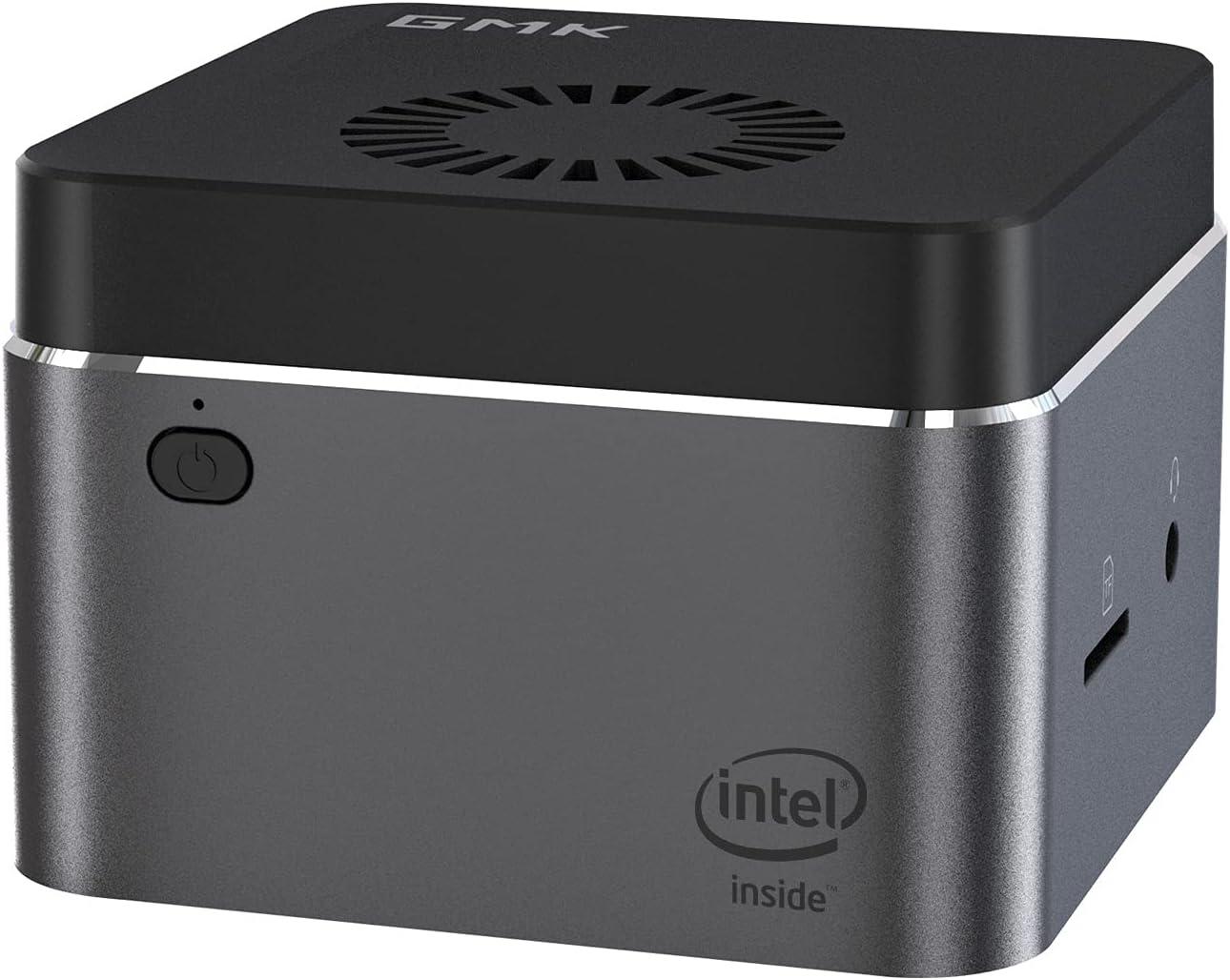 GMK Mini PC, NucBox Windows 10 Mini Computer with Intel J4125, Micro PC 8GB DDR4 RAM 512GB SSD for 4K HD by HDMI Port, Dual Band Wi-Fi and Bluetooth 4.2