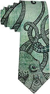 Men's Fashion tie Vintage Octopus Set Necktie One Size Neck Tie