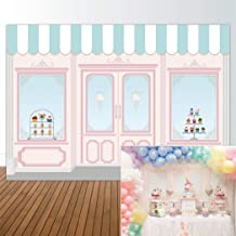Allenjoy 7x5ft Ice Cream Parlor Shop Backdrop for Girl's Baby Shower 1st First Birthday Party Sweets Table Decor Event Decorations Photo Booth Background Supplies Props Pictures Drop