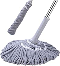 Easy Self Wringing Cleaning Mops Microfiber Twist Mop with Telescopic Stainless Steel Handle for Hardwood Floor Cleaning