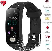 ZEERKEER Fitness Tracker,Blood Pressure Heart Rate Watch with IP67 Waterproof, Activity Tracker, Bluetooth Smart Bracelet ECG PPG Sleep MonitorSmart Watch for Men, Women