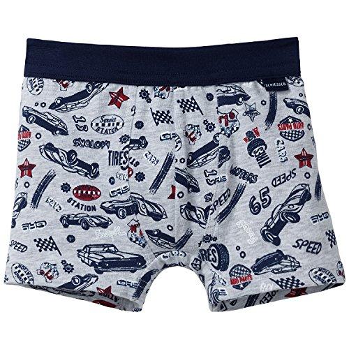 Schiesser Jungen Hip Shorts Boxershorts, Grau (grau-Mel. 202), 140