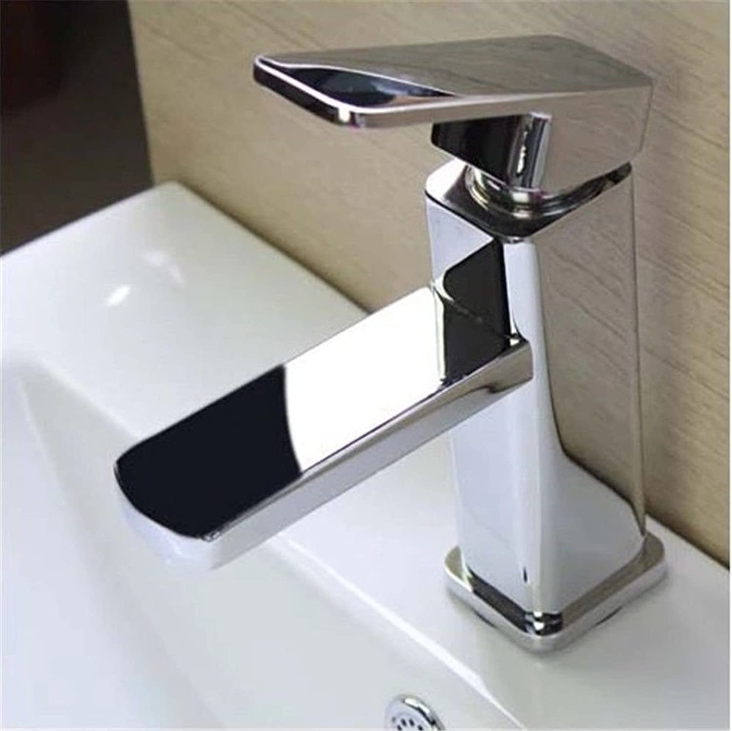 Gyps Faucet Single-Lever Washbasin Mixer Tap Bathroom Basin Mixer Tap Bathroom Sink Single Lever Control Single Hole and Cold Water Taps On,Mischba