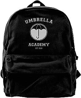 Mochila de Lona Umbrella Academy Varsity Logo Mochila Gimnasio Senderismo Laptop Bolsa de Hombro Mochila para Hombres Mujeres