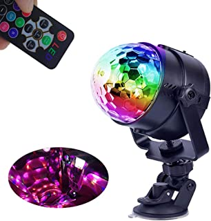 Party Lights Disco Ball Battery/USB Powered by, Small Disco Lights Strobe Lights for Parties, Rotating 12 Colors Disco Ball Lamp for Room Decor Dance Party Cars Indoor Outdoor