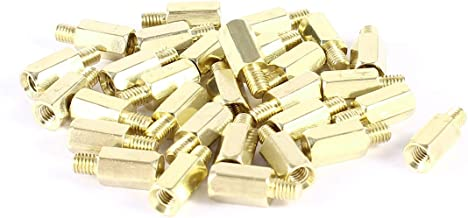 uxcell 30 Pcs PC PCB Motherboard Brass Standoff Hexagonal Spacer M3 8+4mm