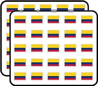 Colombia Flag Sticker for Scrapbooking, Calendars, Arts, Kids DIY Crafts, Album, Bullet Journals 50 Pack