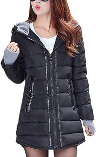 7387cada1fad uirend Abbigliamento Donna e Cappotti Giacche - Piumini Cappuccio  Ultralight Packable Lungo Zip Caldi Guanti Parka